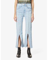 Rag & Bone Blue X Bonum Japan Maya Straight-leg High-rise Jeans