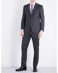 Canali - Gray Nailhead Tailored-fit Wool Suit for Men - Lyst