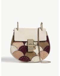 Chloé Multicolor Mini Drew Patchwork Suede-leather Shoulder Bag
