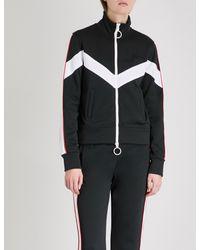 Off-White c/o Virgil Abloh Black Contrast-tape Jersey Track Jacket