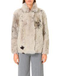 Whistles Natural Helvin Shearling Jacket