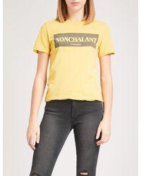 Ksubi - Yellow Nonchalant Cotton-jersey T-shirt - Lyst