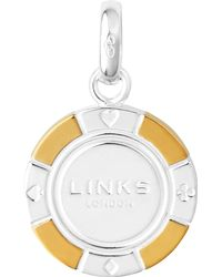 Links of London - Metallic Sterling Silver And 18-carat Gold Poker Chip Charm - Lyst