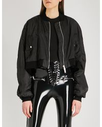 Unravel Black Ghost Reconstructed Chop Shell Bomber Jacket