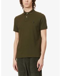 Polo Ralph Lauren Green Logo-embroidered Custom Slim-fit Cotton-piqué Polo Shirt for men
