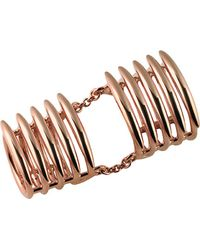 Shaun Leane Multicolor Rose Gold Vermeil Long Finger Quill Ring