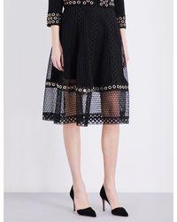 Maje Black Jenner Lace Skirt