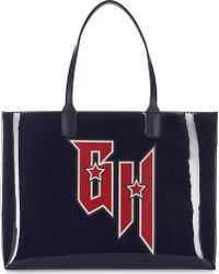 Tommy Hilfiger - Blue X Gigi Hadid Patent Leather Tote - Lyst