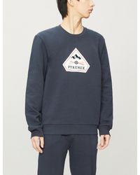 Pyrenex Blue Charles Logo-badge Organic-cotton Jersey Sweatshirt for men
