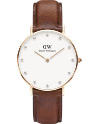 Daniel Wellington - Black 0510dw St Mawes Rose Gold-plated And Leather Watch - Lyst