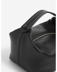The Row Black Les Bains Leather Tote Bag