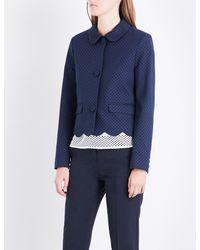 Claudie Pierlot - Blue Polka-dot Woven Jacket - Lyst