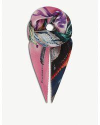 Balenciaga - Multicolor New York City Skyline Print Silk Scarf - Lyst