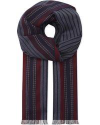 Johnstons - Gray Mens Grey Herringbone Classic Fine Merino Wool Scarf for Men - Lyst