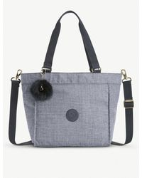 Kipling Multicolor Ladies Dark Grey Practical New Shopper Nylon Bag