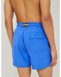 Vilebrequin Blue Moorea Invisible Turtle-print Swim Shorts for men