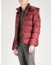 59abd177cbf8 Lyst - Michael Kors Hooded Shell Puffer Jacket in Red for Men
