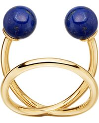 Astley Clarke - Yves Yellow-gold Vermeil And Lapis Ring - Lyst