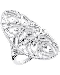 Thomas Sabo - Metallic Evil Eye Mandala Sterling Silver And Diamond Ring - Lyst