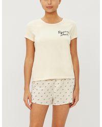 LoveStories White T-bird Slogan Cotton T-shirt