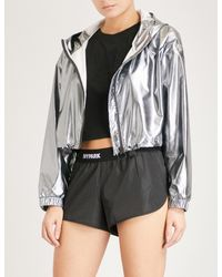 Ivy Park Cropped Metallic Shell Jacket