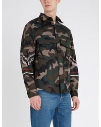Valentino Multicolor Camouflage-print Cotton Overshirt for men