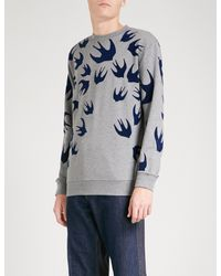 McQ Alexander McQueen Multicolor Swallow-print Cotton-jersey Sweatshirt for men