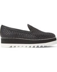Dune Black | Black Gloat Woven Leather Flatform Shoes | Lyst