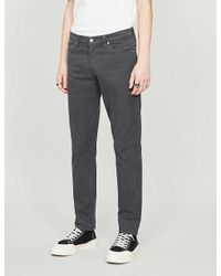 Citizens of Humanity Gray London Logan Straight Cotton Trousers for men
