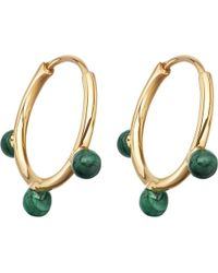 Astley Clarke | Metallic Hazel Yellow-gold Vermeil & Malachite Hoop Earrings | Lyst