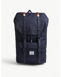 Herschel Supply Co. Blue Little America Canvas Backpack for men