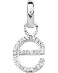 Links of London - Metallic Alphabet E Sterling Silver And Diamond Charm - Lyst