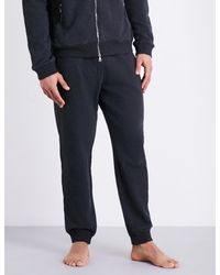 Derek Rose - Gray Devon Cotton-jersey Jogging Bottoms for Men - Lyst