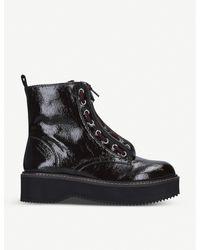 DKNY Black Rhi Leather Biker Boots