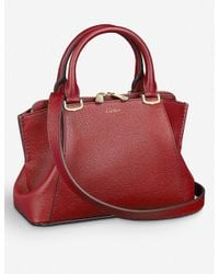 Cartier Red C De Leather Small Tote