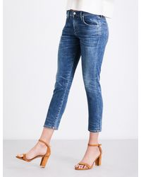 Citizens of Humanity - Blue Elsa Slim Tapered Mid-rise Jeans - Lyst