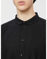 Toogood Black The Draughtsman Cotton-blend Shirt for men