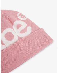 Aape Black Logo Knitted Beanie Hat for men