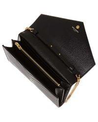 Saint Laurent Brown Monogram Envelope Quilted Leather Cross-Body Bag