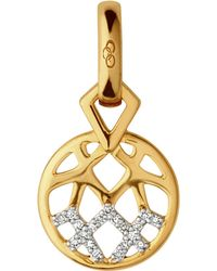 Links of London Metallic Timeless Gold 18ct Yellow-gold And Diamond Charm