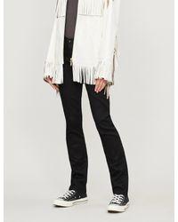 AG Jeans Black The Harper Skinny Straight Mid-rise Jeans