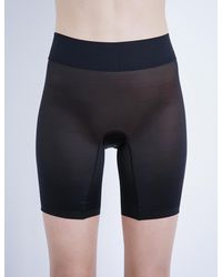 Wolford Black Sheer Touch Control Shorts