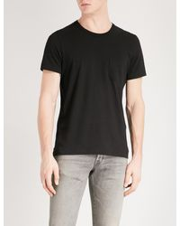 Tom Ford - Black Pocket-detailed Crewneck Cotton-jersey T-shirt for Men - Lyst