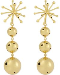 PAULA MENDOZA JEWELLERY Metallic Va Drop Earrings