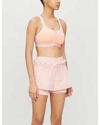Adidas By Stella McCartney Pink Hiit High-rise Shell Shorts