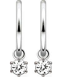 Thomas Sabo - Metallic Zirconia Hinged Hoop Earrings - Lyst