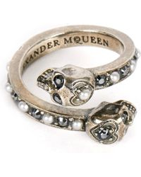 Alexander McQueen | Metallic Wrap-around Skull Ring | Lyst