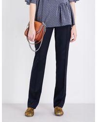 Stella McCartney Black Anna Straight-leg Wool Trousers - For Women