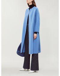 Max Mara Blue Dadaci Wool Coat