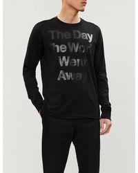 The Soloist Black Slogan-print Cotton-jersey T-shirt for men